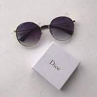 Очки Dior черные золото
