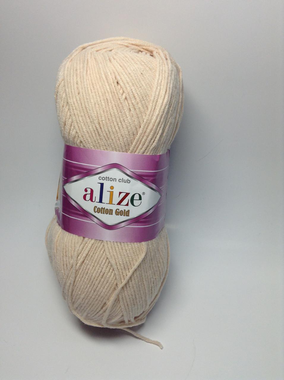 Пряжа cotton gold - цвет молочно-бежевый