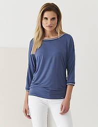 Женская блуза Q11 Sunwear синего цвета, коллекция весна-лето 2018