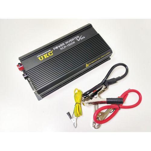 Профессиональный преобразователь инвертор UKC 12V-220V RCP 1500W