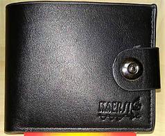 Кошелек мужской черный Т06 на кнопке