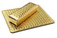 Подлокотник и коврик для маникюра золотой