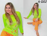 Пижама женская велюр + хлопок размер:S. M.L.XL