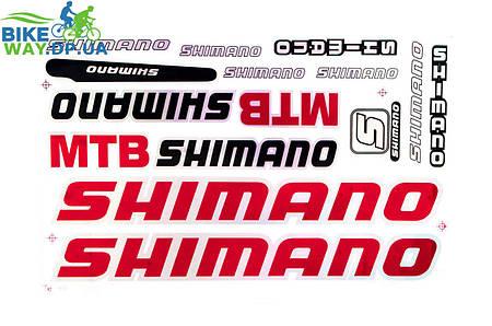 Наклейки на раму велосипеда Shimano 24x40 см.