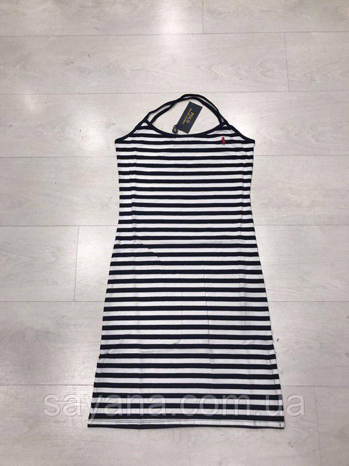 Женское платье- бренд в полоску, Турция. Н-7-0418