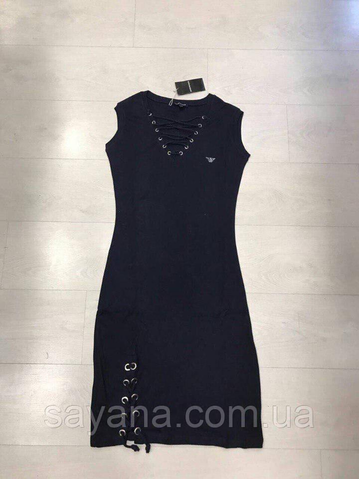 Женское платье- бренд с люверсами и шнуровкой, Турция. Н-8-0418