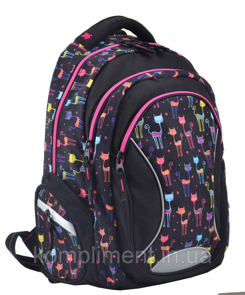 Рюкзак школьный подростковый для девочки Т-46 Gibby, 44*30*14, YES