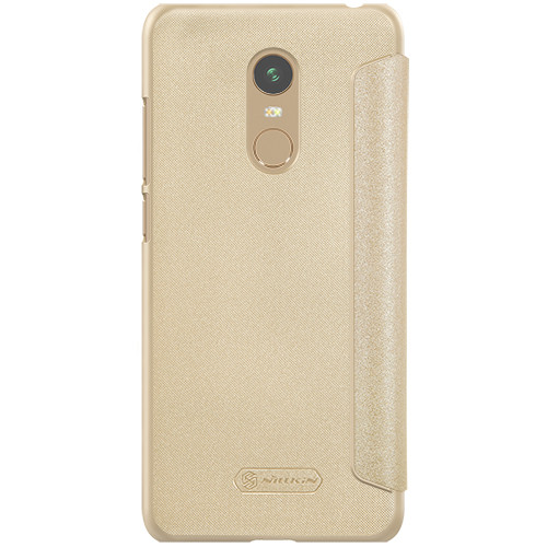 Nillkin XIAOMI RedMi 5 Plus/NOTE 5 - Sparkle Leather Case Gold Чехол Книжка