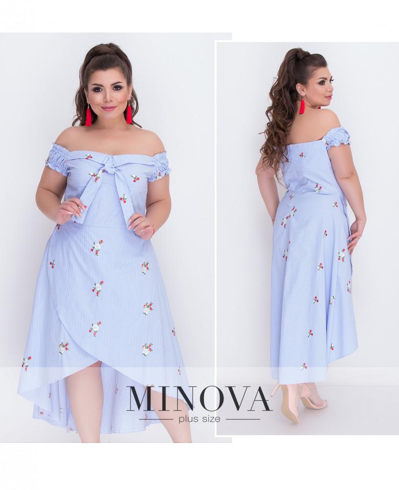 Платье №224-голубой