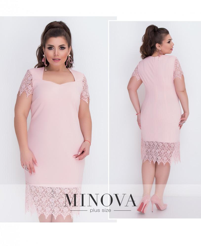 Платье №207-1-розовый
