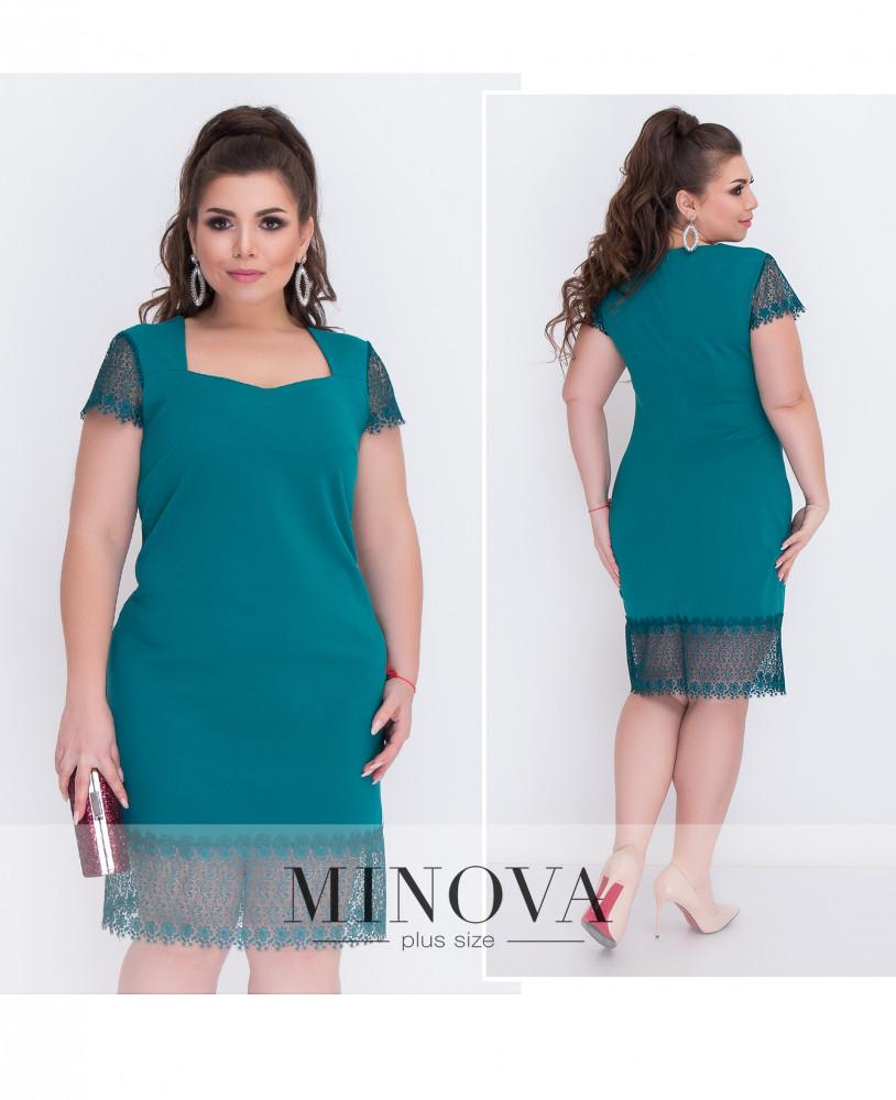 Платье №207-1-изумрудный