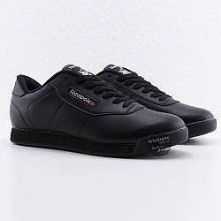 Мужские кроссовки Reebok Classic Retro Black M, рибок классик ретро черные кожаные