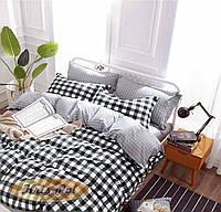 Комплект постельного белья сатин двуспальный в клеточку