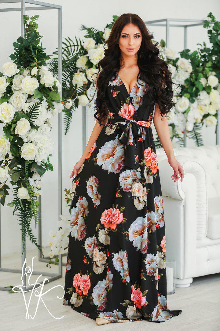 41fa734fa1a Шикарное Летнее Платье в Пол с Цветочным Принтом — в Категории