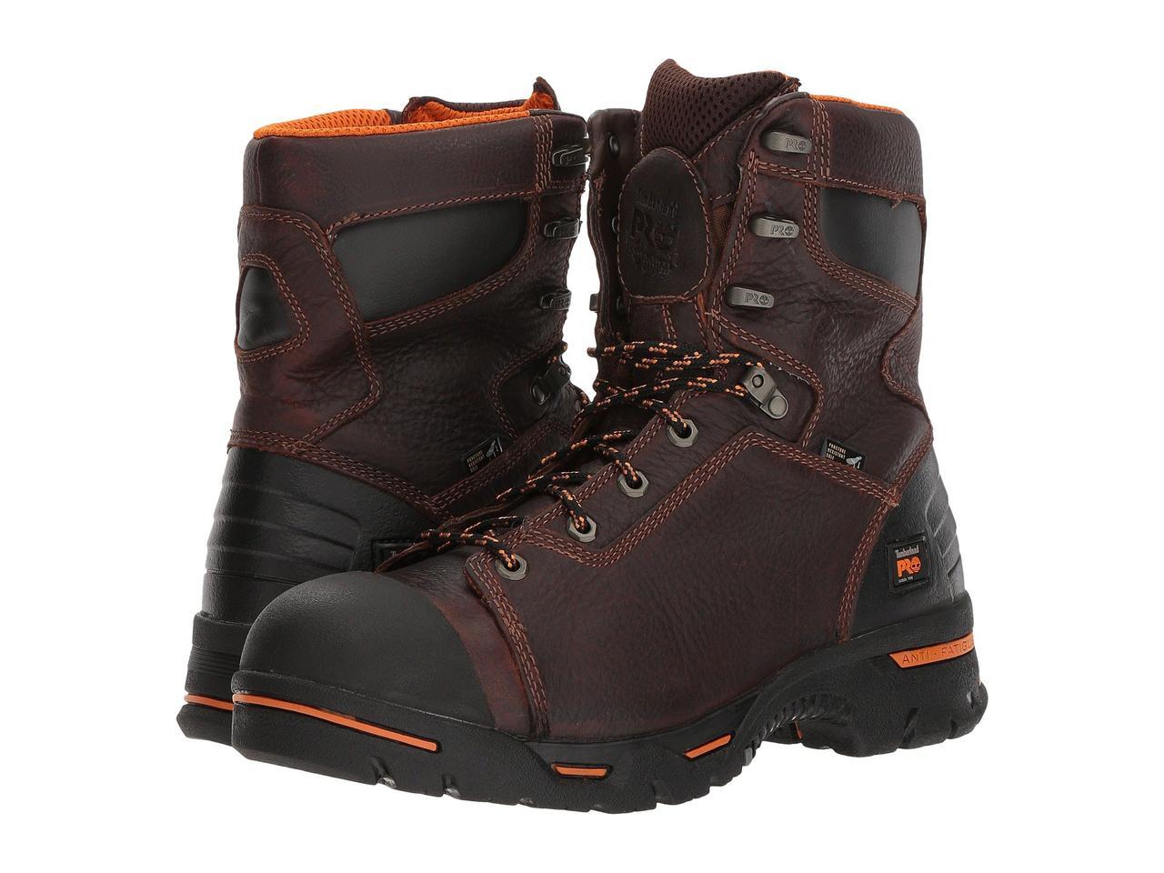 "Ботинки/Сапоги (Оригинал) Timberland PRO Endurance PR 8"" Steel Toe Briar"