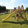 Горка детская пластиковая, спуск 2,2 метра. Цвет желтый., фото 4