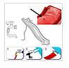 Горка детская пластиковая, спуск 2,2 метра. Цвет красный., фото 6