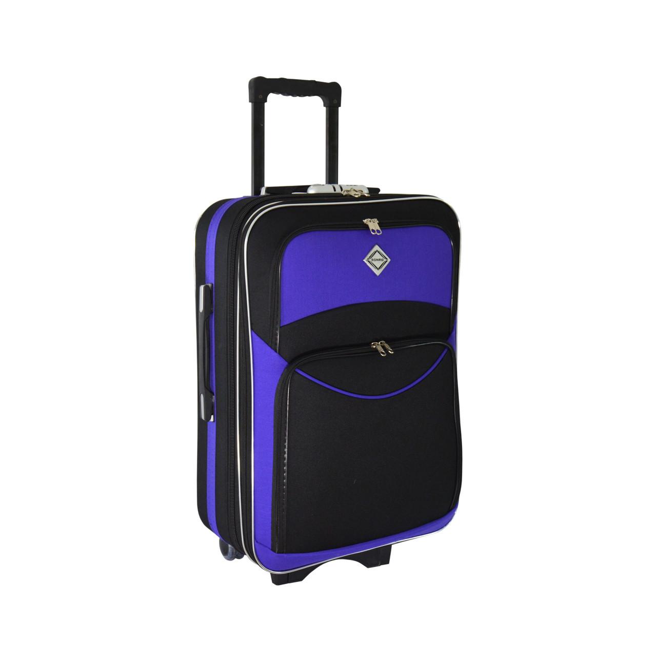 Чемодан Bonro Style (небольшой) черно-фиолетовый