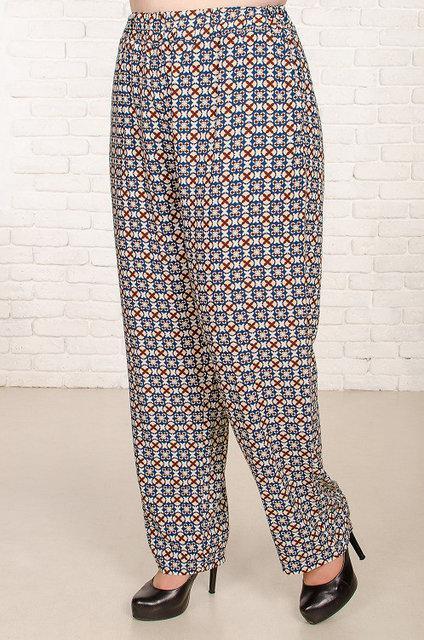 Женские брюки большого размера Сомали с геометрическим рисунком 52-62 р