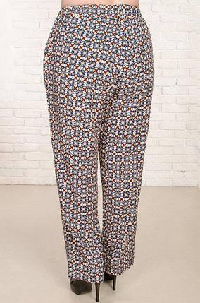 Женские брюки большого размера Сомали с геометрическим рисунком 52-62 р, фото 2