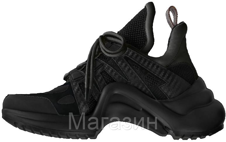 Женские кроссовки Louis Vuitton Archlight Black (в стиле Луи Витон) черные d504859d416