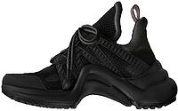 Женские кроссовки Louis Vuitton Archlight Black (в стиле Луи Витон) черные