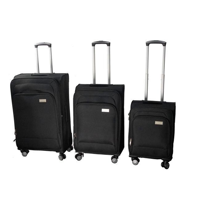 55b3cc7f62fb Чемоданы на колесах Luggage HQ (набор 3 шт.) - большие дорожные чемоданы -