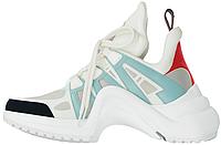 Женские кроссовки Louis Vuitton Archlight White/Blue (в стиле Луи Витон) белые