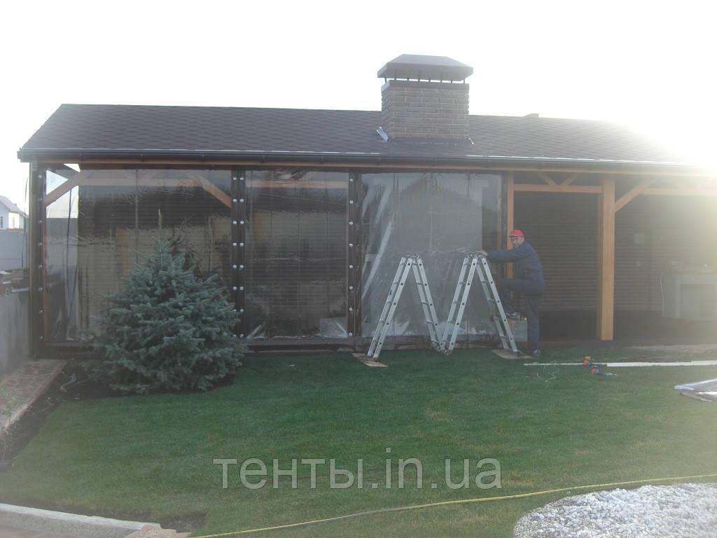 Уличные шторы ПВХ для летней кухни