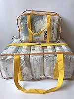 Набор из 2 прозрачных сумок в роддом - S,L - Желтые