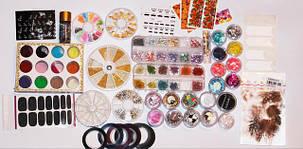 Все для дизайна - стемпинг, слайдеры , наклейки, стразы, конфетти, лента, втирка, фольга ...