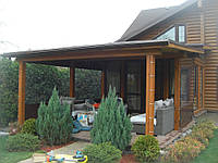 Прозрачные шторы для веранды загородного дома, фото 1