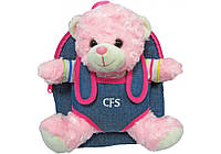 "Рюкзак детский ""Cool For School"" CF86014 ""Bear"" pink 304"
