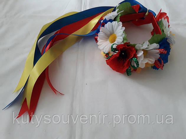 Украинский венок ручной , фото 2