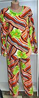 Теплая женская пижама в цветах, фото 1