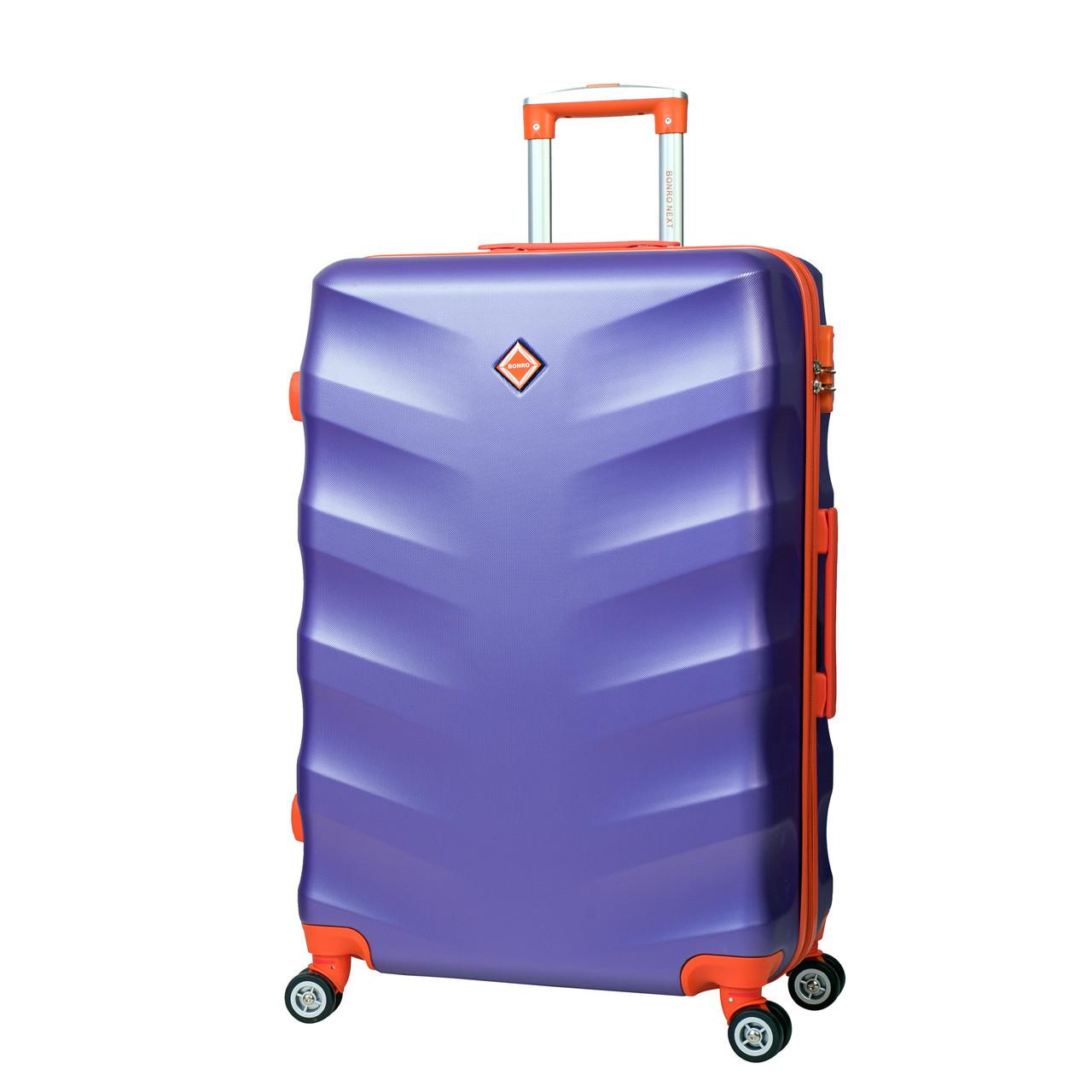 Дорожный Чемодан Bonro Next (средний). Цвет Фиолетовый. — в Категории