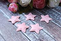 """Апликация """"Звезда блеск"""", 3,5 х 3,5 см, 25 шт/уп, нежно-розового цвета, фото 1"""