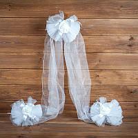 Украшение свадебной машины  белого цвета (арт. ADC-1)