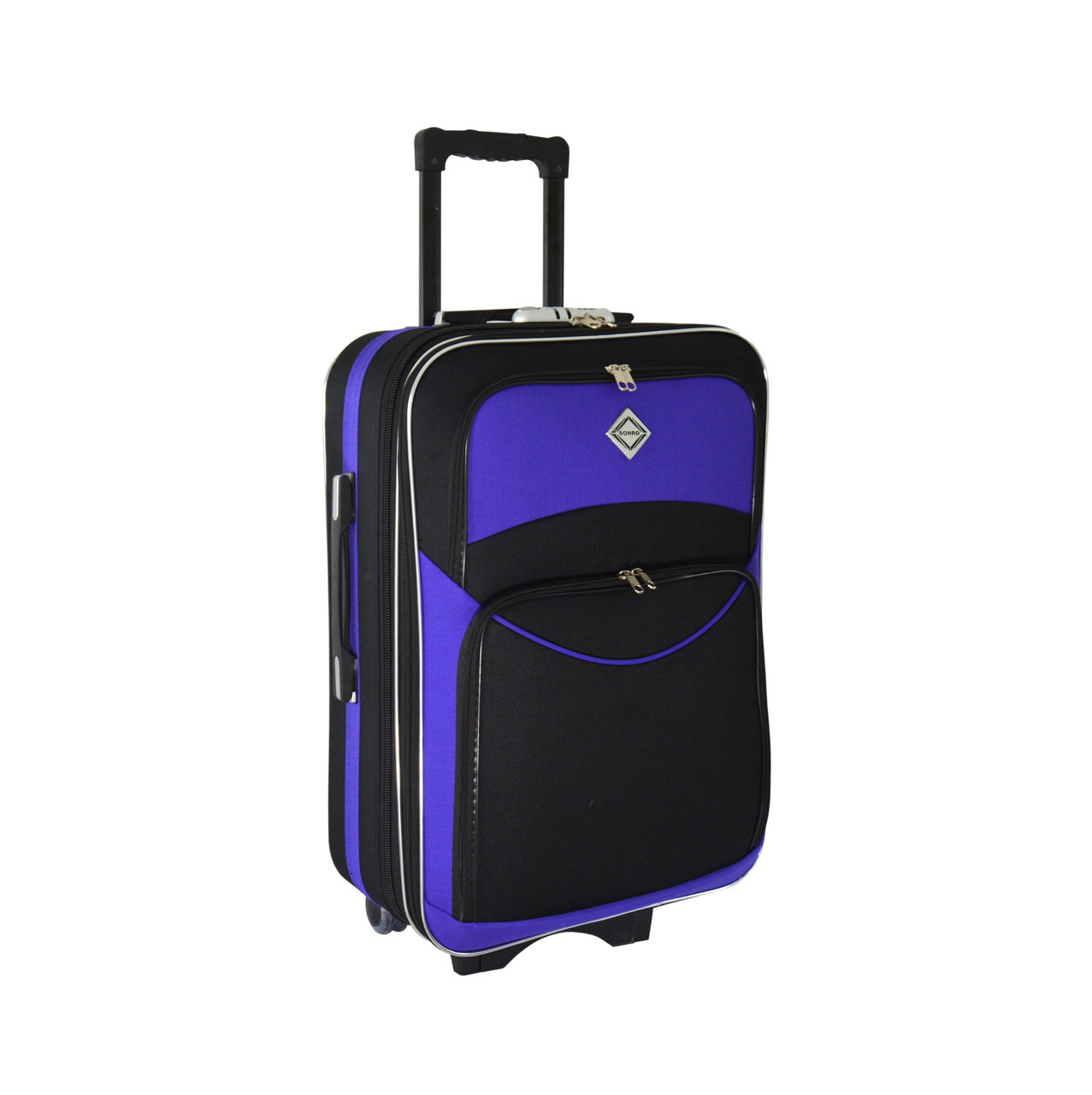 Чемодан Bonro Style (большой) черно-фиолетовый