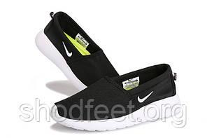 Чоловічі мокасини Nike Roshe One Slip-On Black White