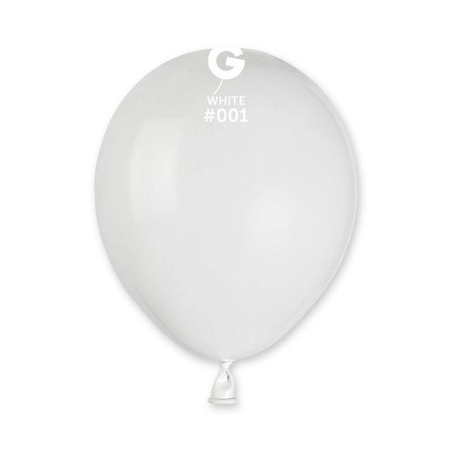 """Латексные воздушные шары Пастель белые 5"""" (13 см) 100 штук"""
