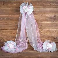 Украшение свадебной машины розового цвета (арт. ADC-3)