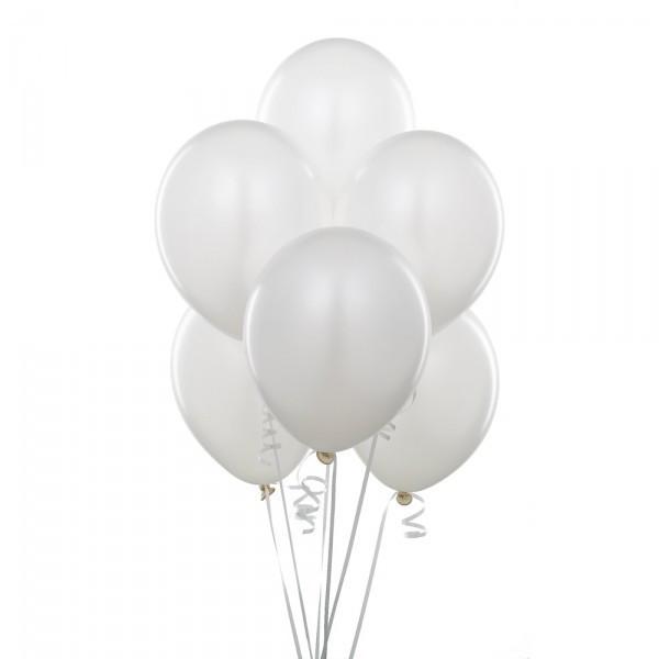 """Латексные воздушные шарики Пастель белые 10"""" (25-26 см), 100 штук"""