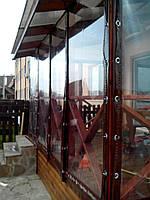 Уличные прозрачные шторы на вернаду