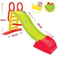 Горка детская пластиковая 180 см Mochtoys (зеленая)