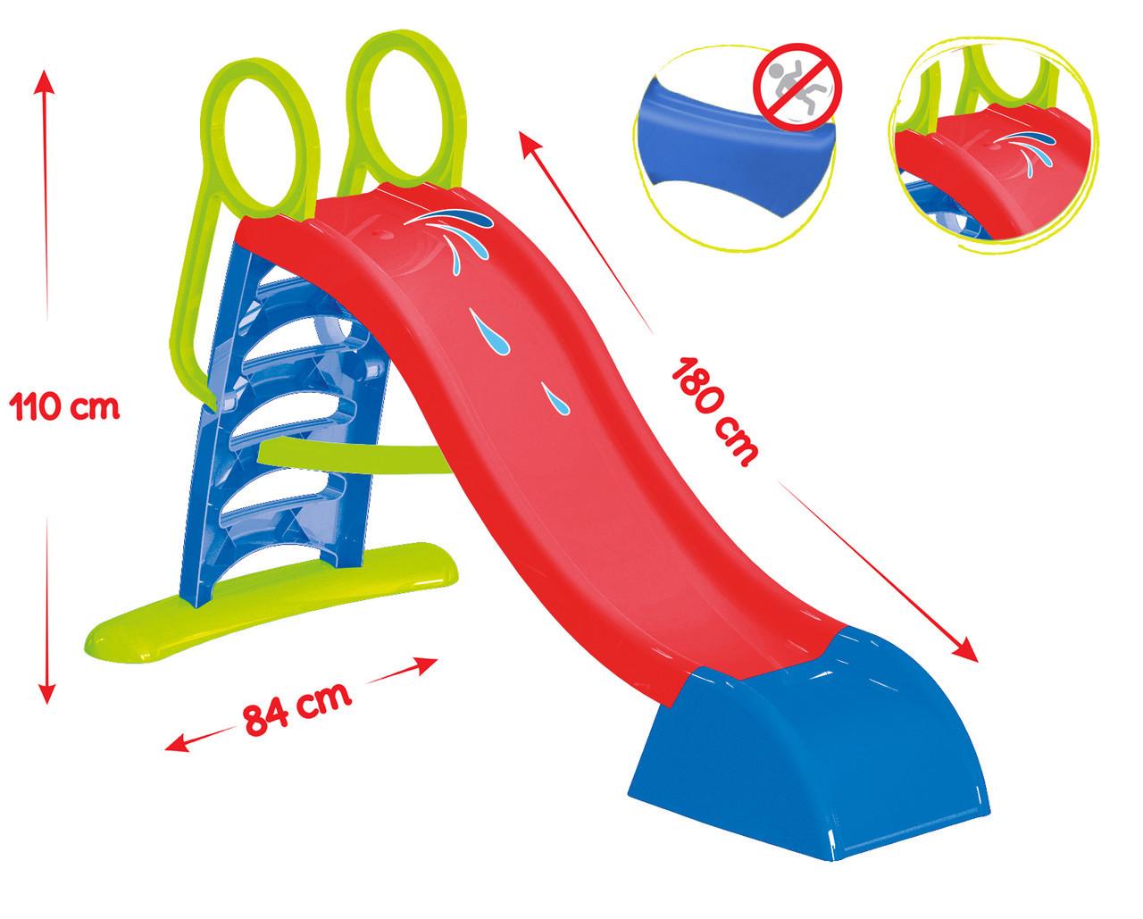 Детская горка пластиковая 180 см Mochtoys (красная)