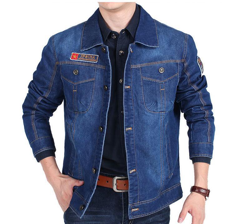 Брендовая джинсовая мужская куртка в ковбойском стиле.