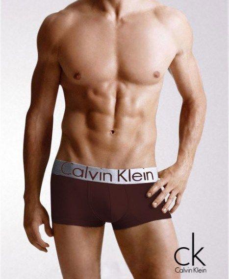 Трусы мужские Calvin Klein Steel Кельвин Кляйн боксеры коричневые (реплика)