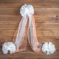 Украшение свадебной машины  персикового цвета (арт. ADC-11)