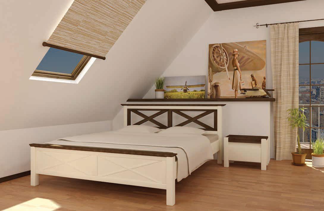Кровать деревянная Прованс 160х200 Mebigrand сосна белая